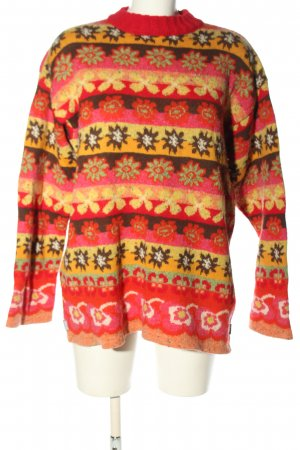 Oilily Strickpullover Allover-Druck Casual-Look