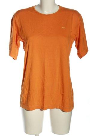 Oilily T-Shirt hellorange Schriftzug gestickt Casual-Look