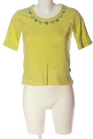 Oilily Camiseta amarillo pálido estampado gráfico look casual