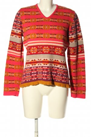 Oilily Wollpullover Allover-Druck Casual-Look