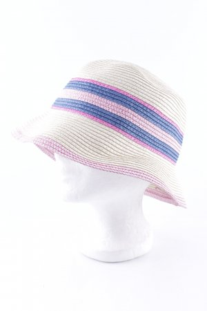 Straw Hat striped pattern casual look