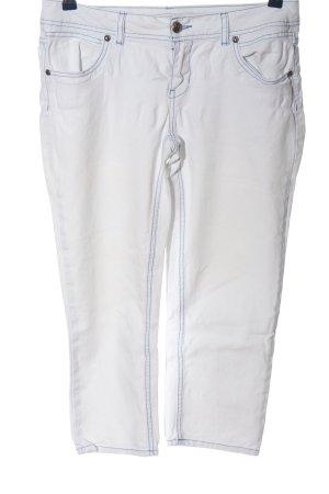 okay Jeans 3/4 blanc-bleu style décontracté