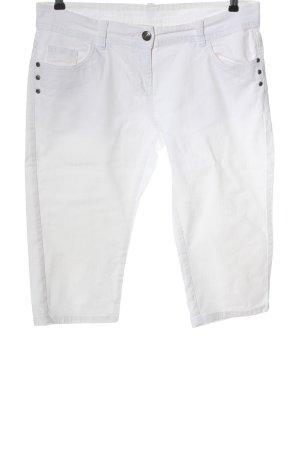 okay Jeans 3/4 blanc style décontracté