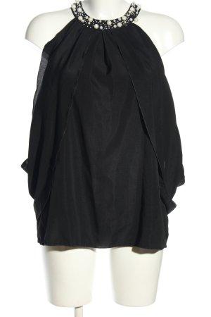 okay ärmellose Bluse schwarz Elegant
