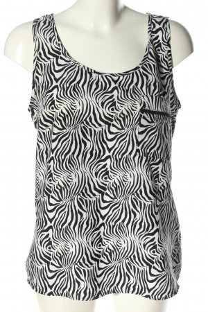 okay Blusentop schwarz-weiß abstraktes Muster Casual-Look