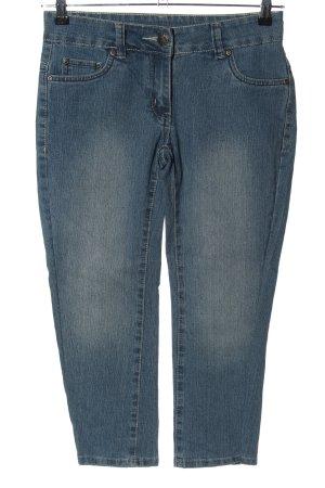 okay Spodnie Capri niebieski W stylu casual