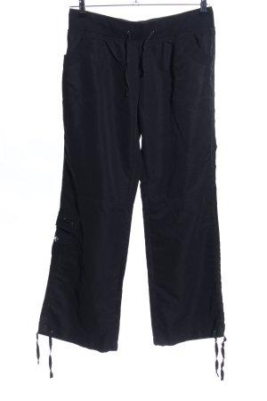 okay Pantalon cargo noir style décontracté