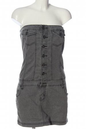 okay Robe en jean gris clair style décontracté