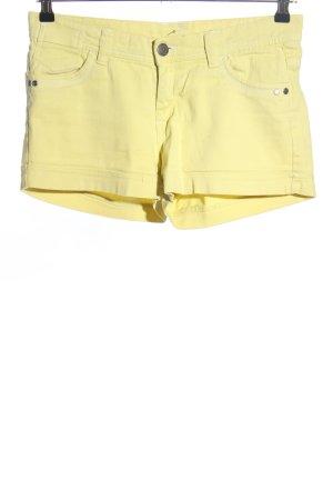 okay Pantalón corto de tela vaquera amarillo pálido look casual