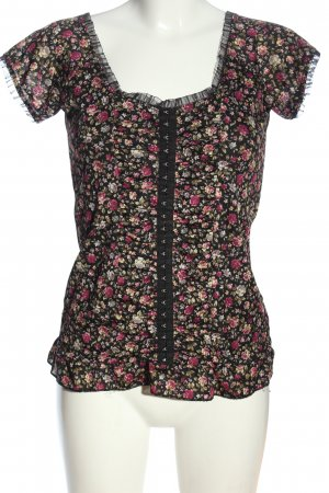 okay Short Sleeved Blouse allover print casual look
