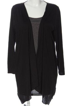 okay Long Sleeve Blouse black-white striped pattern casual look