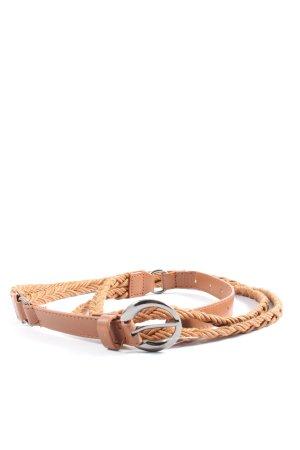 okay Cinturón de cuero de imitación marrón look casual