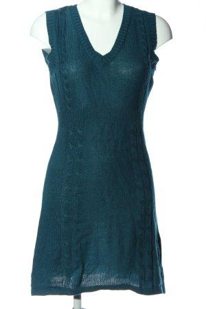 okay Minikleid blau Zopfmuster Casual-Look