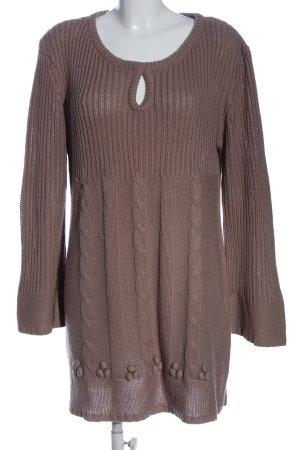 okay Pulloverkleid braun Zopfmuster Casual-Look