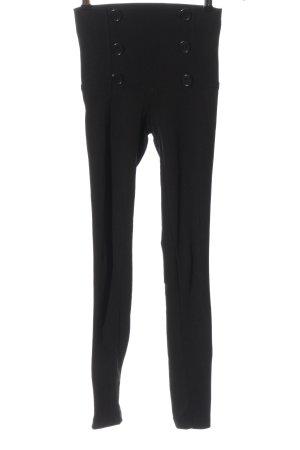 okay Pantalon en jersey noir style décontracté