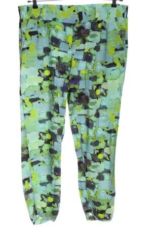 okay Pantalon en jersey turquoise-vert motif abstrait style décontracté