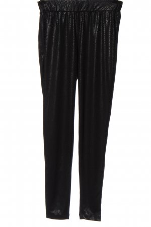 okay Pantalon en jersey noir imprimé allover style décontracté