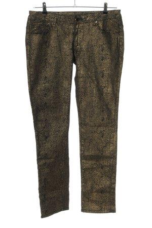 okay Straight-Leg Jeans schwarz-goldfarben Casual-Look