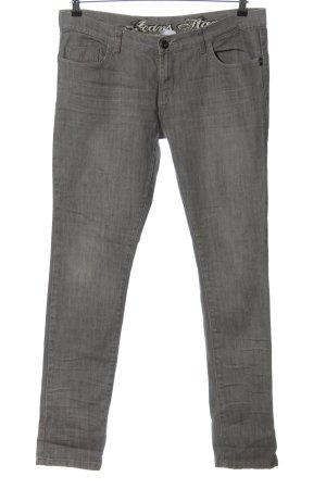 okay Jeans coupe-droite gris clair moucheté style décontracté