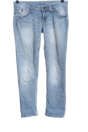 okay Jeans coupe-droite bleu style décontracté