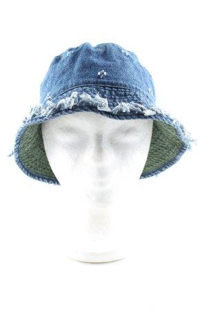 Okey Cappello a falde larghe blu stile casual