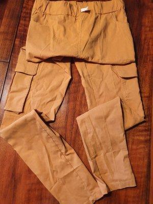 Pantalone a sigaretta giallo-oro-arancione chiaro