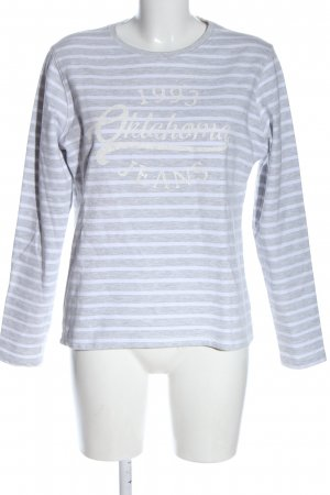 Oklahoma jeans Coarse Knitted Sweater light grey-white printed lettering