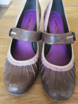 Tamaris Tacones de tiras marrón oscuro-lila grisáceo