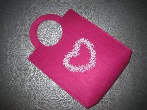 Bolso de tela rojo frambuesa-rosa