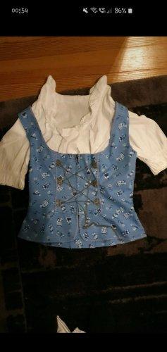 Stockerpoint Folkloristische blouse wit-azuur