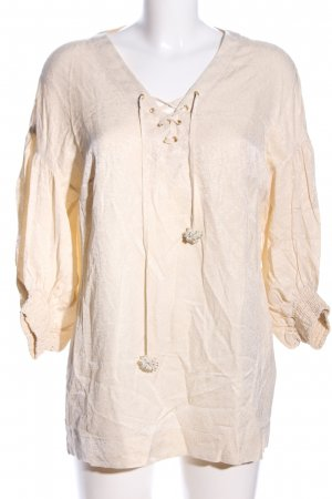 Oky-Coky Langarm-Bluse creme Casual-Look