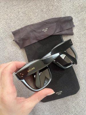 Celine Paris Lunettes de soleil ovales noir