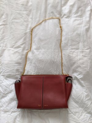 Old Céline Trifold on Chain in Rot