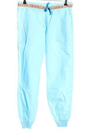 Old Cotton Cargo Pantalone cargo turchese-marrone stile casual