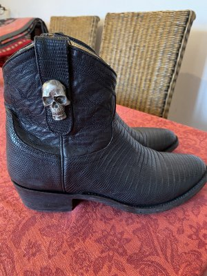 Old Gringo Boots Botki w stylu western czarny