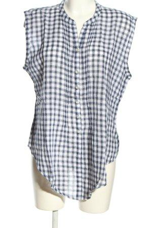 Old Navy Bluzka bez rękawów niebieski-biały Wzór w kratkę W stylu casual