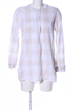 Old Navy Blouse-chemisier blanc-crème motif à carreaux style décontracté