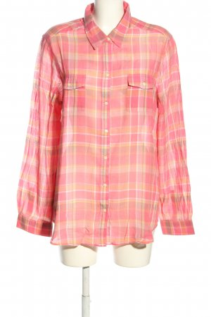Old Navy Hemd-Bluse pink-hellorange Karomuster Casual-Look