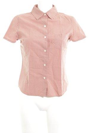 Old Navy Shirt met korte mouwen nude geruite print zakelijke stijl