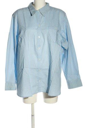 Old Navy Shirt met lange mouwen blauw-wit volledige print zakelijke stijl