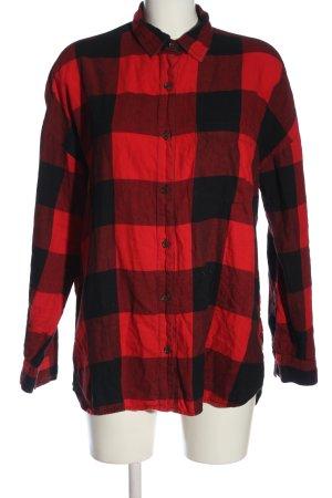 Old Navy Camisa de manga larga rojo-negro estampado a cuadros look casual