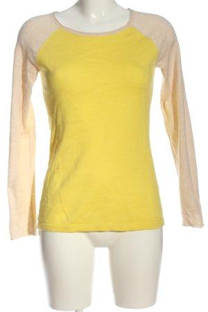 Old Navy Jersey de cuello redondo amarillo pálido-crema look casual