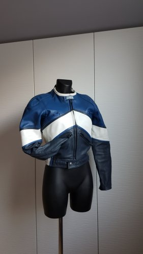 Vintage Biker Jacket multicolored leather