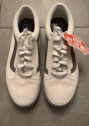 Vans Zapatos de patinador color plata-blanco puro