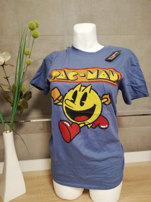 old Skool T-Shirt Pac-Man blau Retro M