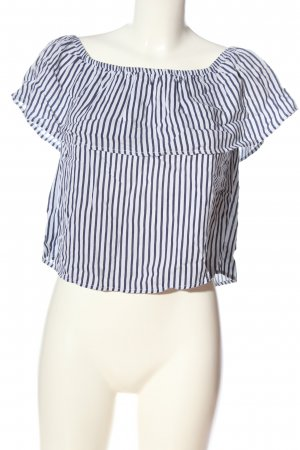 ole by Koton Carmen blouse wit-blauw gestreept patroon casual uitstraling