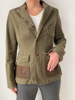Lauren by Ralph Lauren Blazer in jeans grigio-verde Cotone