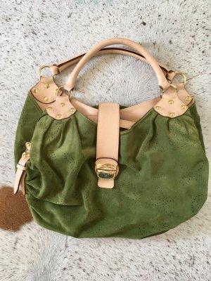 Olive Grüne Wildleder Tasche