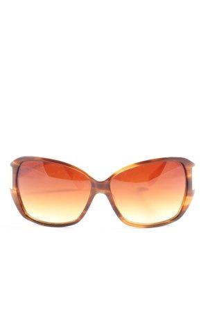 Oliver Peoples eckige Sonnenbrille braun-hellorange Farbverlauf Casual-Look