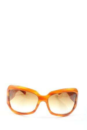 Oliver Peoples Occhiale da sole spigoloso arancione chiaro stile casual
